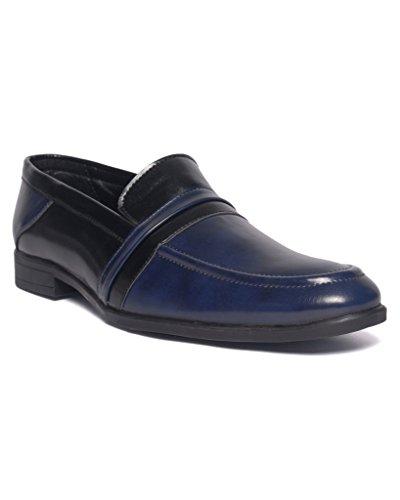 DaMochi LAGOS Blue/Black Men's Formals (8 UK)