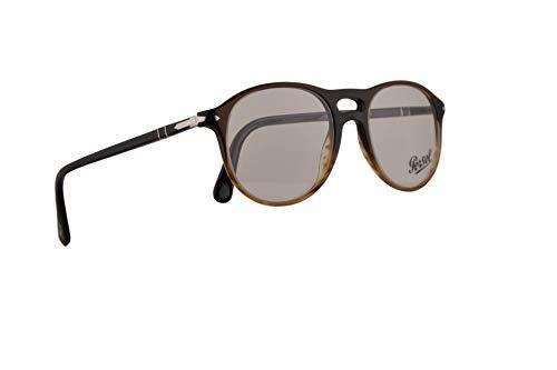 Persol PO3202V Brillen 51-19-145 Schwarz Braungestreift Mit Demonstrationsgläsern 1026 PO 3202V PO 3202-V PO3202-V