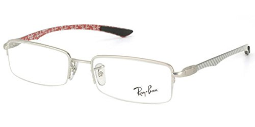 Rayban Unisex Metal Silver Rectangle Half Rim Frame (Rayban-RB8407-2703)  available at amazon for Rs.5943