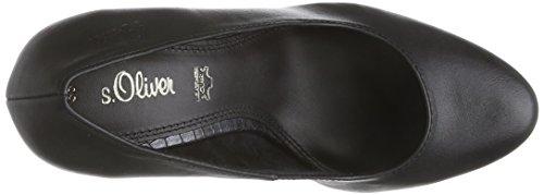 s.Oliver 22400, Chaussures à talons avec plateau femme Noir - Schwarz (Black Nappa 022)