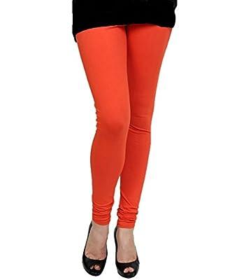 K's Creations Women's Cotton Lycra Churidar Leggings (Multicolour, Free Size) - Pack of 4
