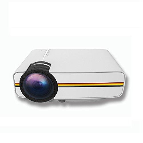 Mini-Video-Projektor - Kingwo YG400 TFT LCD Mini Videoprojektor mit freiem HDMI Unterstützung 1080P für Heimkino-Theater TV Laptop-Spiel SD iPad iPhone und Android - Hd Halloween Full Movie