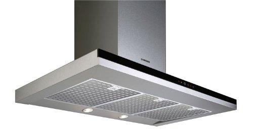 Nodor Mirage Premium 700 Wandhaube / 70,0 cm/Eco-LED Beleuchtung mit Dimmfunktion/edelstahl/schwarz