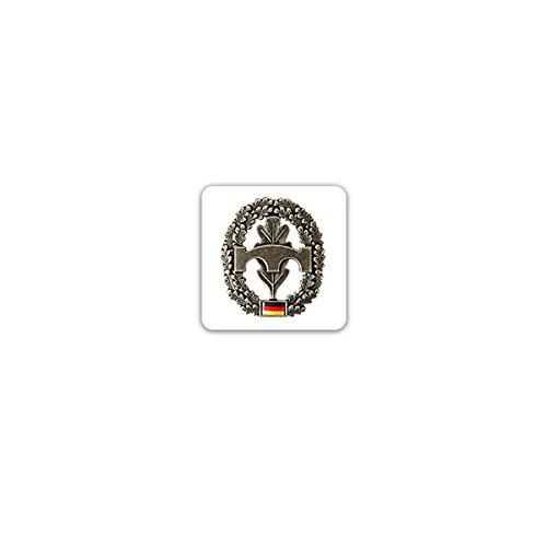 Aufkleber/Sticker -Pionier Barettabzeichen Pioniertruppe Streitkräfte Bundeswehr Heer Deutschland Einheit Militär Uniform Offizier Soldaten Wappen Emblem 7x7cm #A3221 -