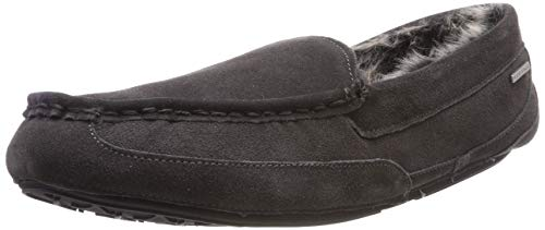 Isotoner Mens Suede Moccasin Slippers, Chaussons Bas Homme