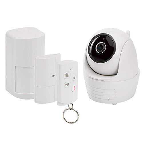 SecuFirst Alarmanlage - Wireless und WLAN, PTZ IP Kamera FHD 1080p, Motion Detektor, Tür und Fenster-Kontakt, Fernbedienung, Sirene, Zugriff über app, Bild Speicher bis zu 128 mb, Montage Einfach