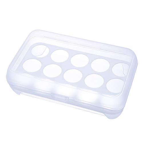 Eier Container, 15 Grid Eier Container Lagerung Küche Kühlschrank Frische Box Aufbewahrungskoffer Multifunktionale Crisper Food Container -