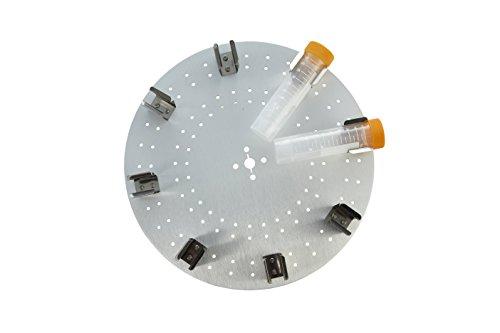 neolab 8503sunlab piatto con 8mollette a D per 50ml provette, alluminio