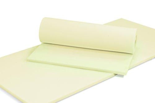 MSS® Schaumstoffplatte Polster Auflage Topper - 90 x 200 cm - 5 cm - RG27/45