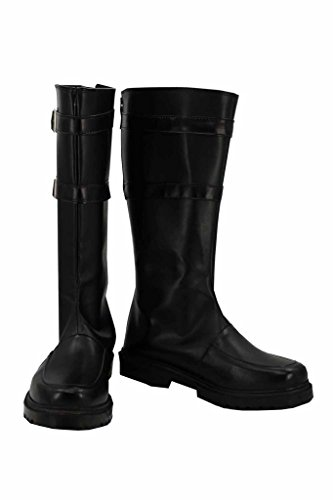Sword Art Online Death gun Stiefel Karneval Schuhe cosplay Boots Herren Schwarz 43.5