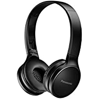 Panasonic HF400BE K Bluetooth On-Ear Headphones, 30 mm (Up To 20 hour runtime, Quick Charge, Converter, Neodymium Magnet, Microphone and Controller, 130g, Foldable)
