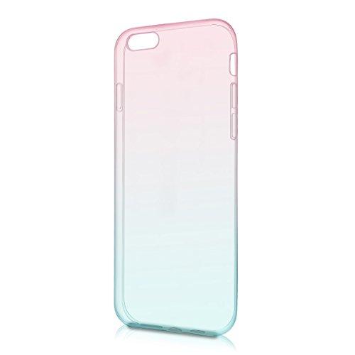 kwmobile Hülle für Apple iPhone 6 / 6S - TPU Silikon Backcover Case Handy Schutzhülle - Cover Rot matt Zwei Farben Pink Blau matt