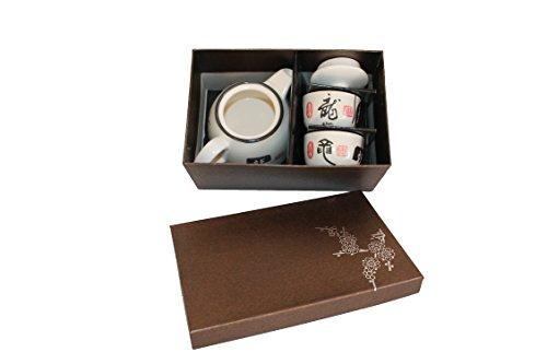 A C H T U N G Kleines Asiatisches Teeset 203 Teeservice aus Keramik, Teekanne mit Tassen