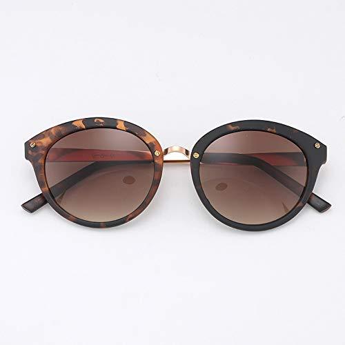 Vintage runde Sonnenbrille für Frauen, klassischer Designer-Stil, UV400-Sonnenbrille Brille (Farbe : Tortoise Shell)
