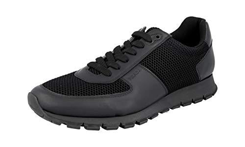 Prada 4E2700 Herren Sneaker aus Leder, Schwarz (schwarz), 43 EU M