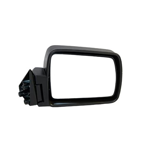 1984-1996 Jeep Cherokee, 1984-1990 Wagoneer, 1987-1992 Comanche Pickup Truck Manual Without Remote Cable Black Folding Rear View Mirror Right Passenger Side (1984 84 1985 85 1986 86 1987 87 1988 88 1989 89 1990 90 1991 91 1992 92 1993 93 1994 94 1995 95 1996 96) by Aftermarket Auto Parts