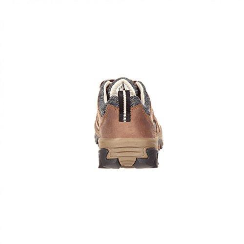 Marrone Impermeabile Marrone Scarpe Rks0297 Rocciosi Pizzo Impermeabile Moda Stivali M larghezza Da Donna M Marrone Fb Signore Allaperto Stivali O7cfaAcB