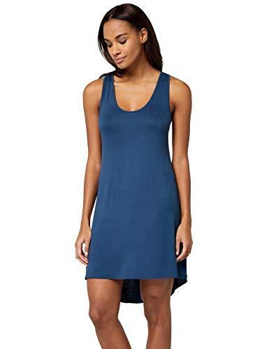 Blue Damen-nachthemd (IRIS & LILLY Cross Strap Back nachthemd damen, Blau (Insignia Blue), 42 (Herstellergröße: X-Large))