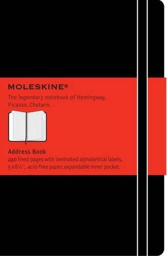 Moleskine Adressbuch Large, Hardcover, schwarz