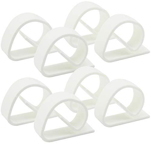 com-four® 8X Tischtuchklammern aus bruchfestem Kunststoff in weiß, Tischdeckenbeschwerer, Tischdeckenhalter Made in Germany (08 Stück)