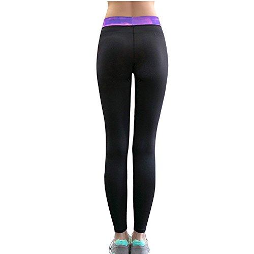 Lover-Beauty Damen Sport Leggings Yoga Pants Yoga Sporthose Training Sport Strumpfhosen Schwarz1