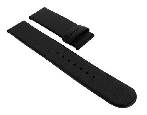 Junghans MEGA SOLAR | Ersatzband Uhrenarmband 20mm | Leder schwarz 018/1225
