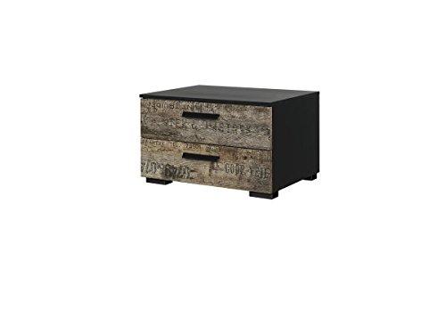 Rauch Möbel 64C4Sumatra Nachttisch mit Lack, 55x 34x 42cm, schwarz