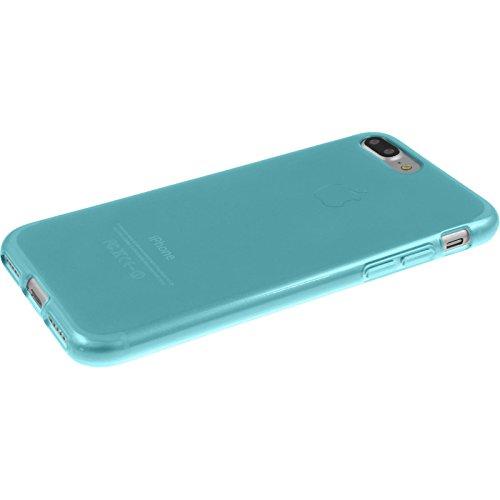 PhoneNatic Case für Apple iPhone 8 Plus Hülle Silikon weiß transparent Cover iPhone 8 Plus Tasche + 2 Schutzfolien Transparent
