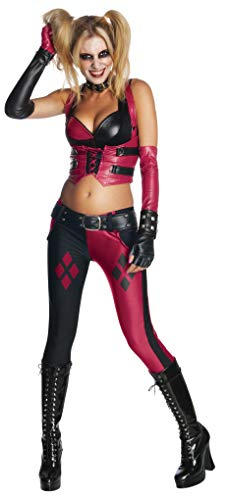 Kostüm Arkham Knight Harley - Rubie's Arkham City Harley Quinn Fancy Dress Costume Large