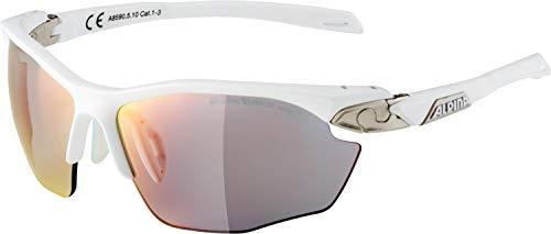 ALPINA Erwachsene Twist Five HR QVM+ Sportbrille, White matt-Silver, One Size