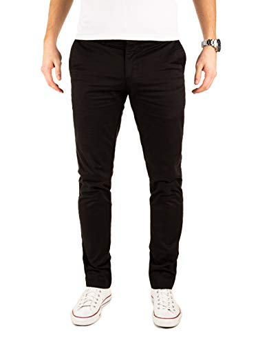 Yazubi Herren Chino Hose, Modell Dustin, Chinohose by Yzb Jeans, Schwarz (Black 4R194008), W32/L30