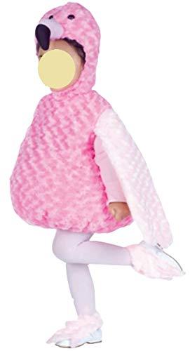 Baby Kostüm Flamingo - Unbekannt Baby Kostüm Flamingo 1-2 Jahre Kleinkind Karnevalskostüm Mädchen Karneval