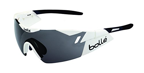 bollé Sonnenbrille 6th Sense, Shiny White/Black/Modulator Clear Grey Oleo, 12162