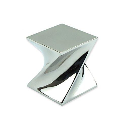 ArtsOnDesk Moderne Kunst Briefbeschwerer Mr106 Edelstahl Spiegelpolitur Papiergewicht Paperweight Schreibtisch-Accessoire Schreibtisch Organisator Geschenk -