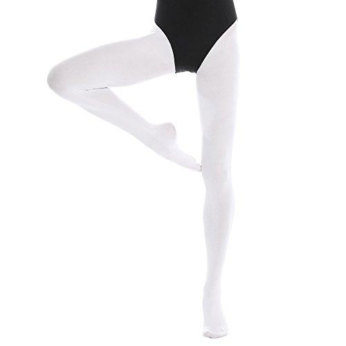 Bezioner Medias Ballet Para Niños Adultos 1 Par Blanco