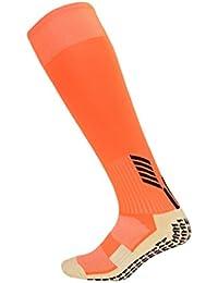 Kairuun Calcetines Deportivos para Adulto Calcetines Largos Atléticos Antideslizantes con Almohadillas de Goma para Fútbol Hockey