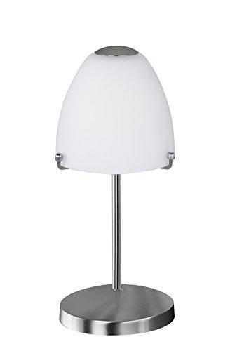 Action Tischleuchte, 1-flammig, Serie Anique, 1 x LED, 5 W, Höhe 30 cm, Durchmesser 13 cm, Kelvin 3000, Lumen 320, nickel matt 865401640000