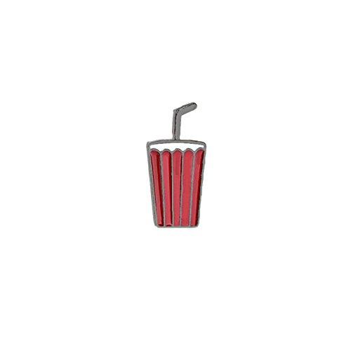 Aooaz Damen Mädchen Kinder Cartoon Emaille Brosche Anstecker Karikatur Trinken Tassen Rot Schwarz (Rote Tassen Trinken)