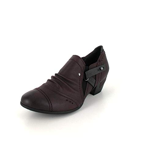 Jana Damen Pumps 8-8-24361 Hochfrontpumps Bordeaux, Größe 36