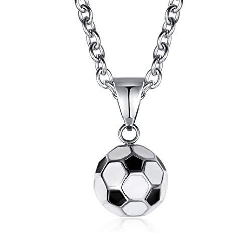 XBYN Hip Hop Sporty Mini Fußball Fußball Anhänger Charme Edelstahl Halsketten Kette für Männer Frauen