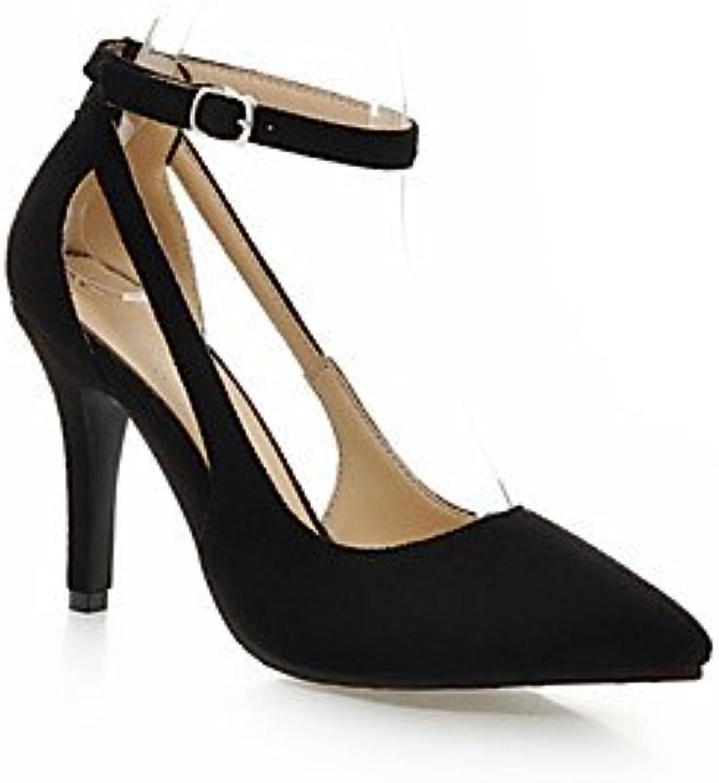FSCHOOLY Confort D'Été Pu Femmes Shoes   Shoes s Talon Orteil Fermé Pour Rouge Noir Décontracté En Plein AirB07B7K58LTParent f8e459