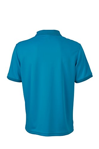 James & Nicholson Herren Poloshirt Men´s Active Polo Blau (Turquoise)