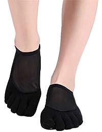 WGE Calcetines Yoga Calcetines Antideslizantes Calcetines Barre Calcetines  Pilates para Mujer Calcetines Cinco Dedos Calcetines Piso 9c54f78b9333