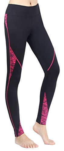 Sugar Pocket Gym Leggings Sport Pantalon Entraînement Course Collnats de Femme Noir