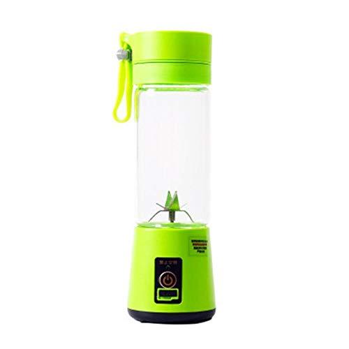 Tragbare elektrische Fruchtpresse Handheld Smoothie Maker Mixer Rühren USB wiederaufladbare Mini tragbare Saft Tasse Wassergrün (Mixer-handheld)