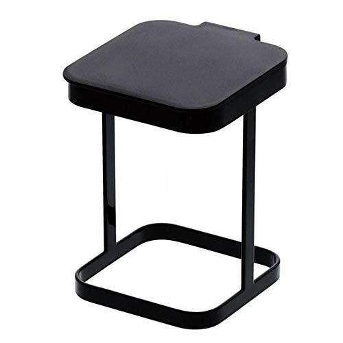 Noe Desktop-Mülleimer, Kleiner Büro-Behälter aus strapazierfähigem Kunststoff, praktische Aufbewahrungsbox für Bad, Küche oder Pantry, weiß,Black -