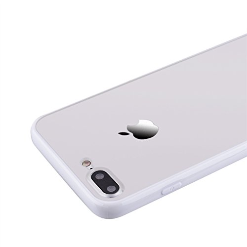 iPhone 7 Hülle, Yokata Harte Schrubben Case + Weich Silikon Rahmen Bumper Schutzhülle Dünne Case Cover Weiß