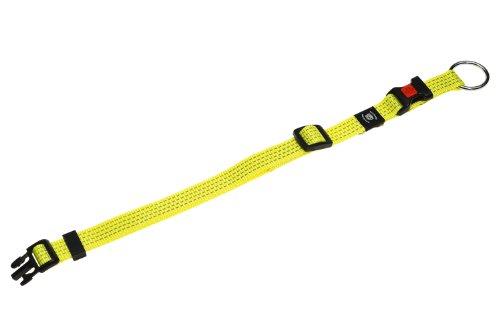 Karlie Art Sportiv Plus Halsband, 25 mm 45-65 cm, Reflek.gelb, Verstell. -