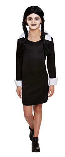 (Children's Girls Scary Daughter Costume Fancy Dress Outfit Wednesday Adams (10-12 Years (Large)))