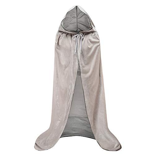 König Kostüm Cape Mittelalterlicher - Mit Kapuze Samtumhang - mittelalterliche Renaissance Mantel Frau Halloween Cosplay Velvet Friar Kostüme Friar Priest Solid Robe Cape für MännerUmhang-5-XL